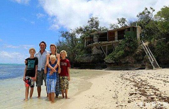 现实版荒岛生存:英夫妇携三子住小岛与世隔绝