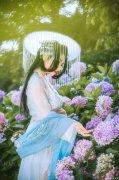 国风女子-绣球花